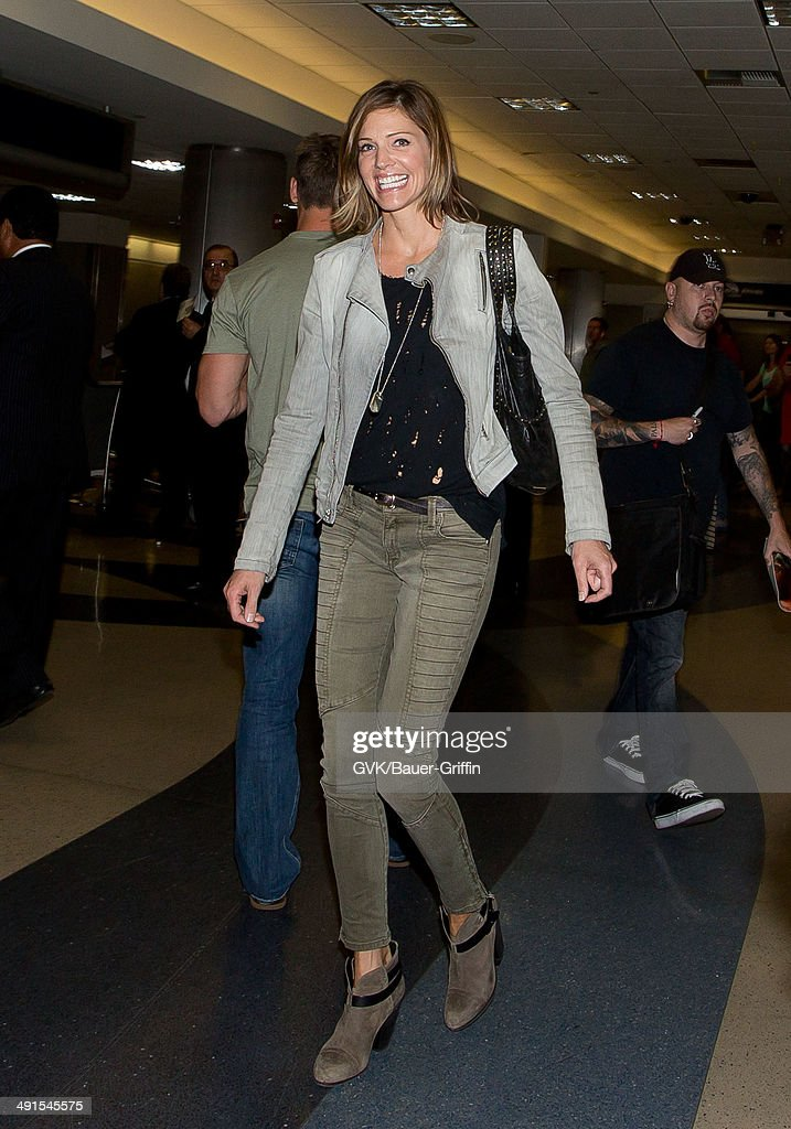 Tricia Helfer seen at LAX on May 16, 2014 in Los Angeles, California.