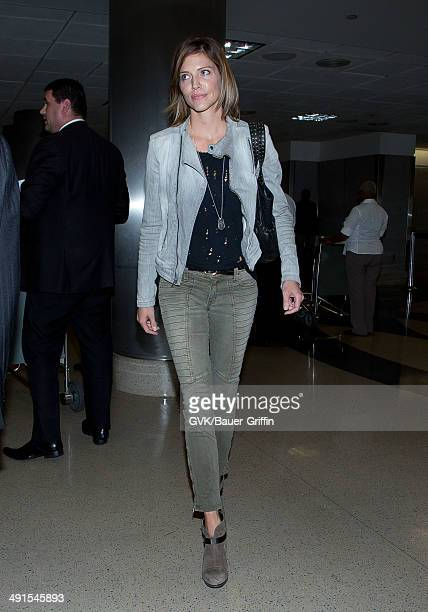 Tricia Helfer seen at LAX on May 16 2014 in Los Angeles California