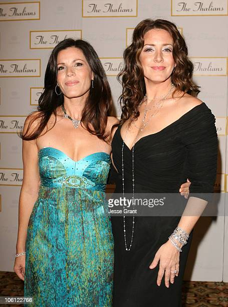 Tricia Leigh Fisher and Joely Fisher during 51st Annual Thalians Ball Arrivals at Hyatt Regency Century Plaza in Century City California United States