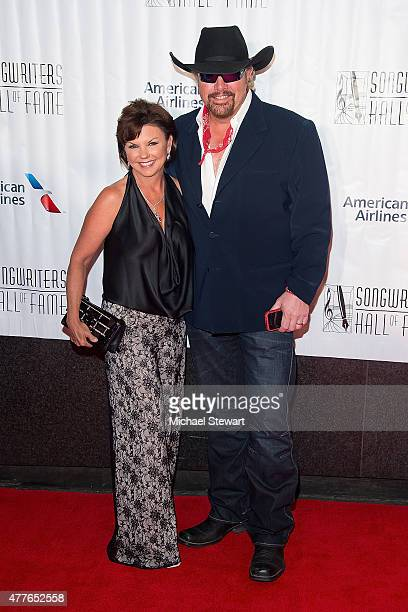 Tricia Lucus and singersongwriter Toby Keith attend the Songwriters Hall of Fame 46th Annual Induction and Awards at Marriott Marquis Hotel on June...