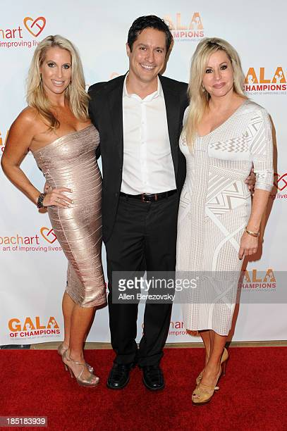 Tricia McCrone actor Michael Dietz and Gail Evertz attend the CoachArt Gala of Champions at The Beverly Hilton Hotel on October 17 2013 in Beverly...