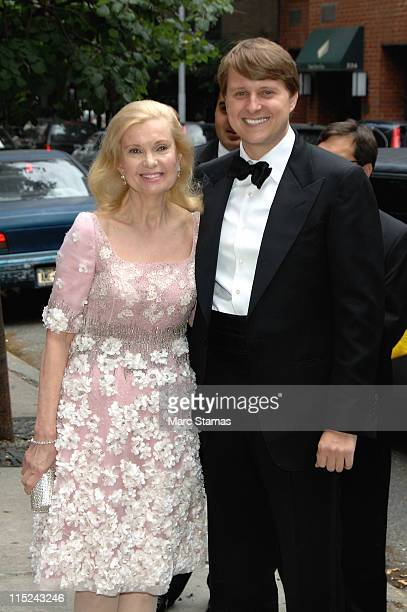 Tricia Nixon Cox and ChristopherNixonCox attends the wedding of Andrea Catsimatidis and Christopher Nixon Cox at the Greek Orthodox Cathedral Of The...