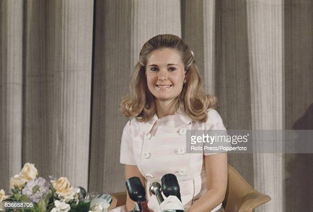 Tricia Nixon Cox daughter of President Richard Nixon attends a press conference at the United States embassy in London on 3rd July 1969 Tricia Nixon...