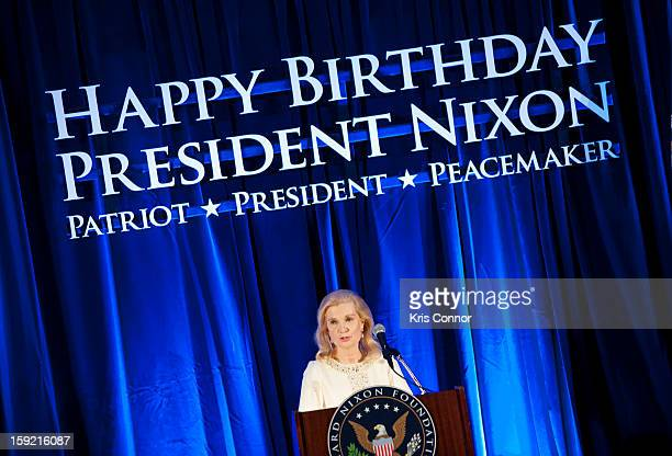 Tricia Nixon Cox speaks during President Nixon's 100th Birthday Gala on January 9 2013 in Washington United States