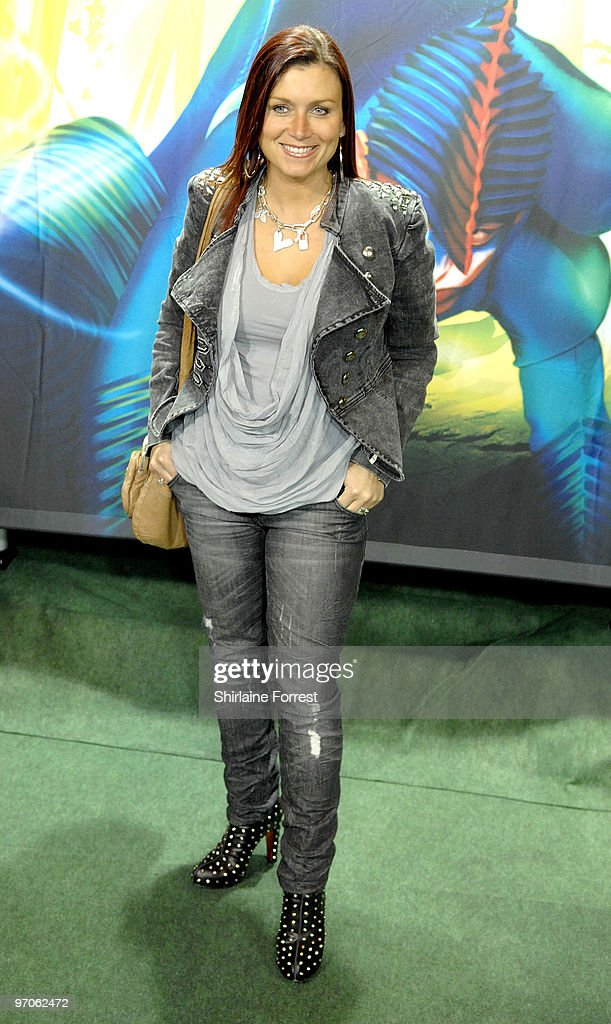 Tricia Penrose attends a green carpet photocall for Cirque du Soleil's 'Varekai' at The White Grand Chapiteau at The Trafford Centre on February 25, 2010 in Manchester, England.