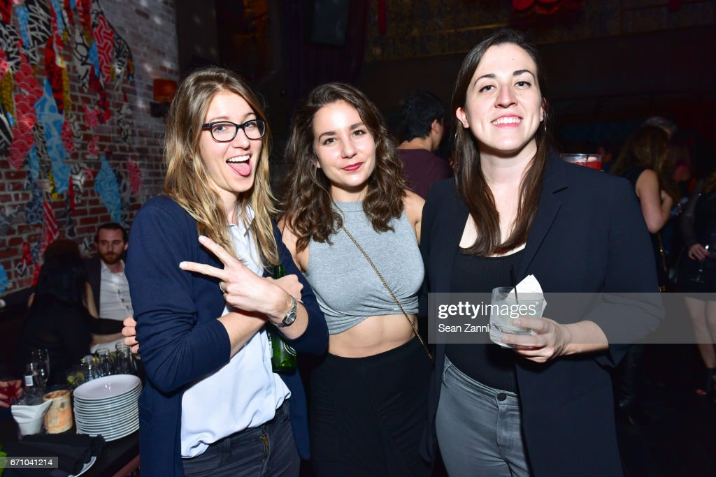 Tricia Robertson, Ellie Del Campo and Samantha Corona attend the after party of the premiere of FLOWER for the Tribeca Film Festival at TAO Downtown on April 20, 2017 in New York City.