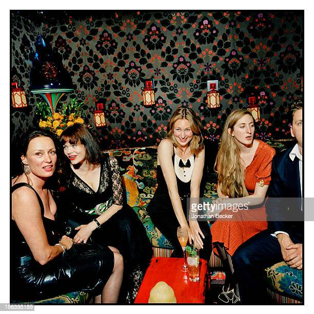 Tricia Ronane Jasmine Guinness Annabel Mullion and Violet NaylorLeyland are photographed at 5 Hertford Street which is home to the nightclub Loulou's...