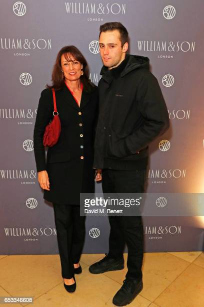 Tricia Simonon and Claude Simonon attend the William Son Gala cocktail party at the National Portrait Gallery on March 14 2017 in London England