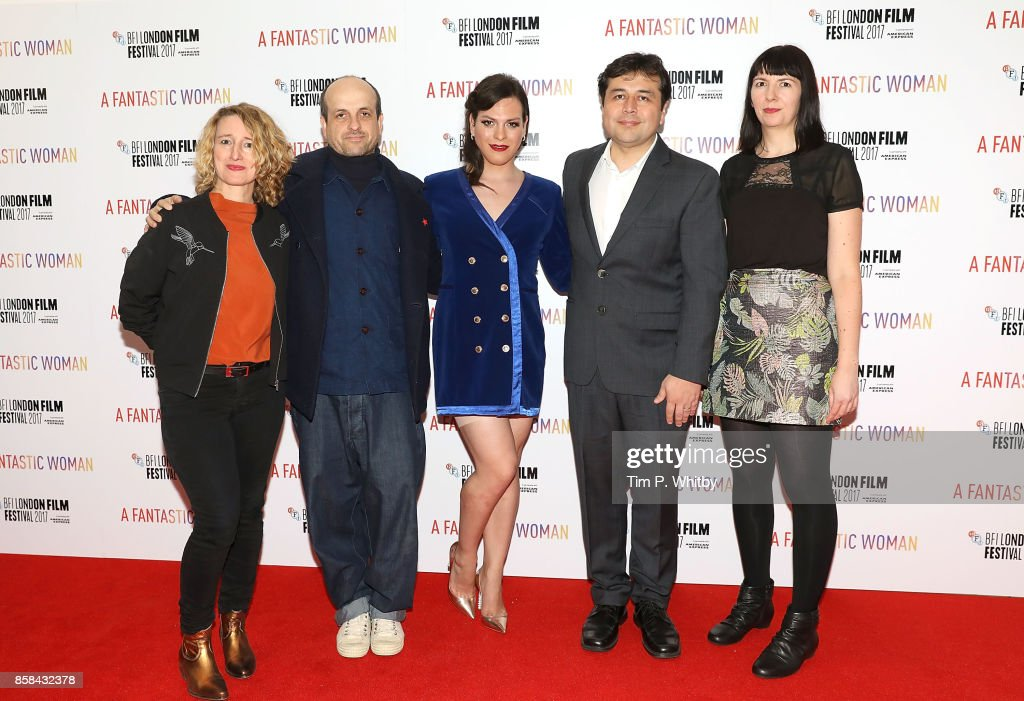 Tricia Tuttle, Matthew Herbert, Daniela Vega, Gonzalo Maza and Kate Taylor attend the BFI Flare Special Presentation and UK Premiere of 'A Fantastic Woman' during the 61st BFI London Film Festival on October 6, 2017 in London, England.