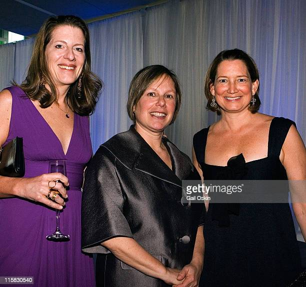 Tricia Winton, Jill Medvedow, Director of the ICA and Bridget Evans attend David Yurman's presentation of sponsors for the Institute of Contemporary...