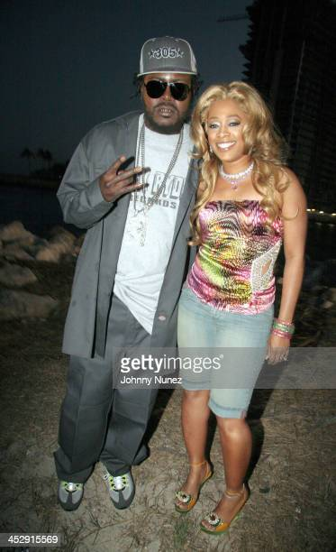 Trick Daddy and Trina during BET Spring Bling 2006 Day 2 Backstage at Haulover Beach Park in Miami Florida United States