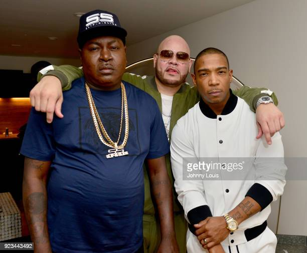 Trick Daddy Fat Joe and Ja Rule backstage at James L Knight Center on February 22 2018 in Miami Florida