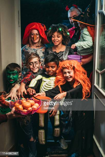 trick or treat! - naughty halloween stock photos and pictures