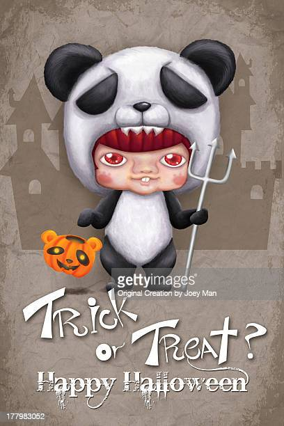 trick or treat? - cartoon halloween stock photos and pictures