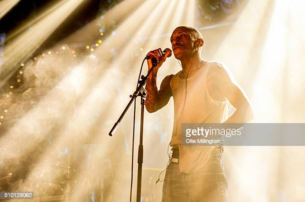 Tricky performs during day 2 of the BBC 6 Music Festival onstage at Motion on February 13 2016 in Bristol England