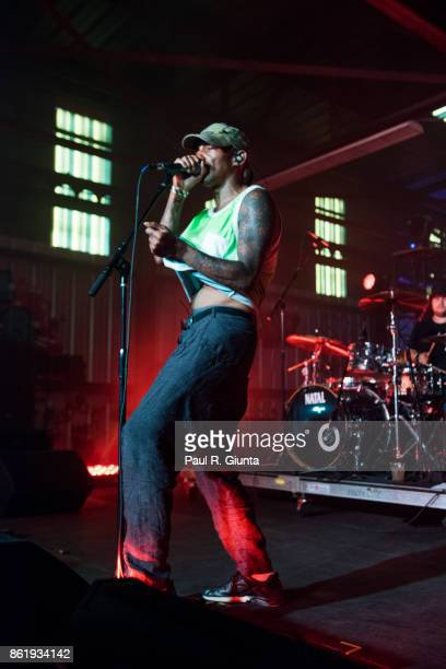 Tricky performs on stage at AFROPUNK 2017 on October 15 2017 in Atlanta Georgia
