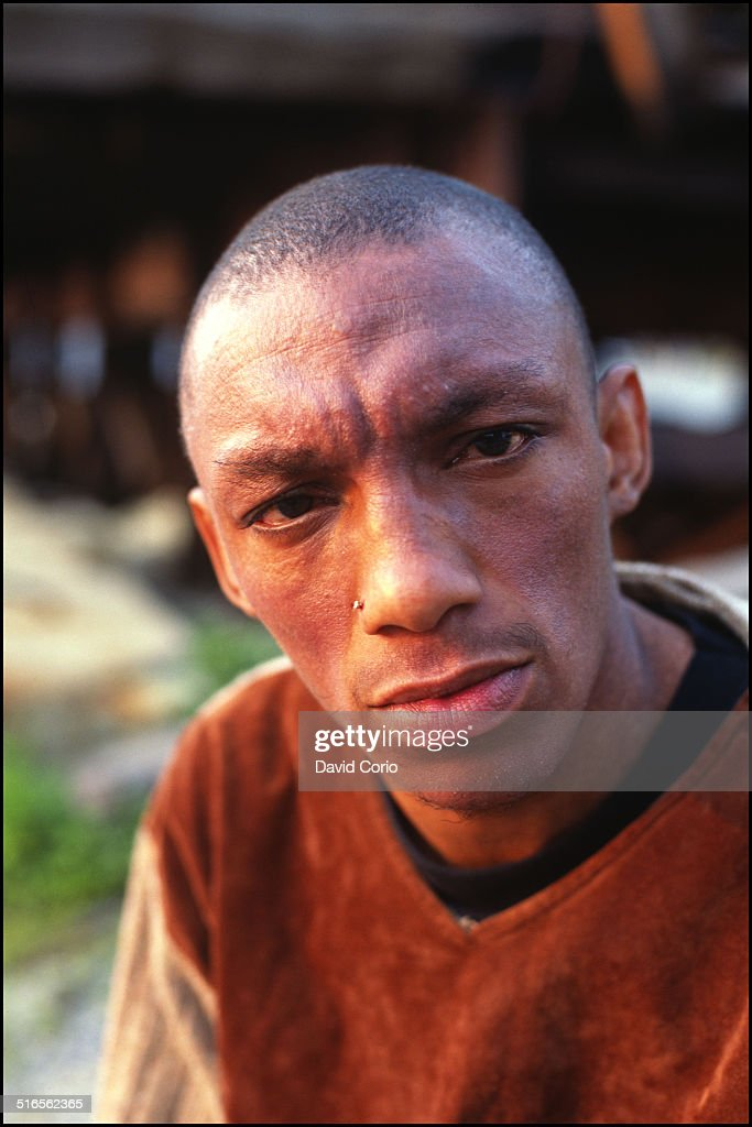 Tricky, portrait, by the West Side Highway in Manhattan, New York, 4 June 1995
