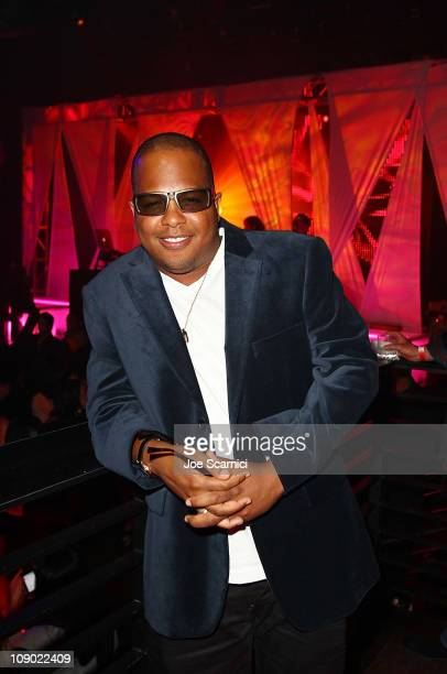 Tricky Stewart attends the Tricky Stewart And RedZone Entertainment PreGRAMMY Party presented by rdiocom at The Playhouse on February 11 2011 in...