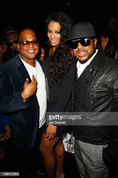 Tricky Stewart Ciara and The Dream attend the Tricky Stewart And RedZone Entertainment PreGRAMMY Party presented by rdiocom at The Playhouse on...
