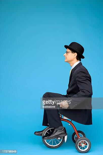 tricycle businessman - tricycle stock pictures, royalty-free photos & images