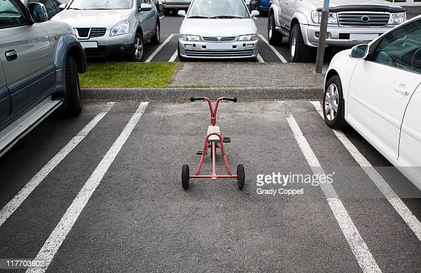 Tricycle parked in company carpark