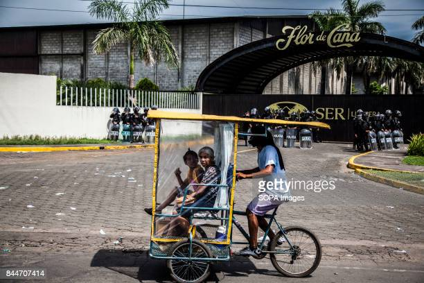 CHICHIGALPA CHINANDEGA NICARAGUA A tricycle pass front of the sugar cane company The sick can not work in the company like cane cutters Normally they...