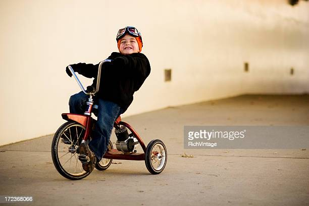 tricycle rider - tricycle stock pictures, royalty-free photos & images
