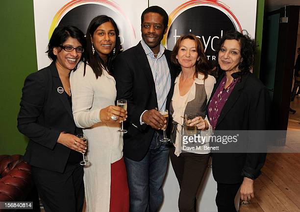 Tricycle Theatre artistic director Indhu Rubasingham Lolita Chakrabarti Adrian Lester Cherie Lunghi and Meera Syal attend Tricycle Theatre's 'Red...