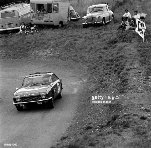 Trident Clipper Sandy Gibb at Gurston Down hill climb Creator Unknown