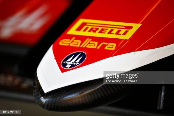 Trident logo seen at Circuito de Jerez on May 12, 2021 in Jerez de la Frontera, Spain.