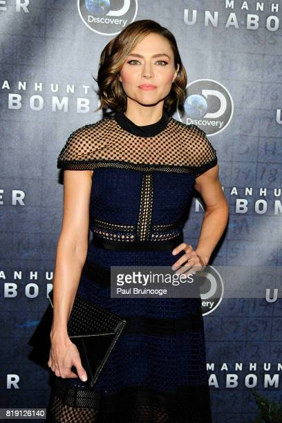 Trieste Kelly Dunn attends Discovery's 'Manhunt Unabomber' World Premiere at Appel Room at Jazz at Lincoln Centers Frederick P Rose Hall on July 19...