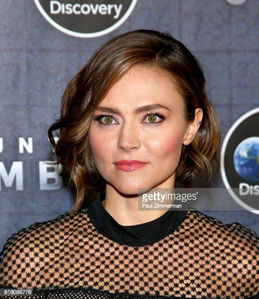 Trieste Kelly Dunn attends Discovery's 'Manhunt Unabomber' World Premiere at the Appel Room at Jazz at Lincoln Center's Frederick P Rose Hall on July...