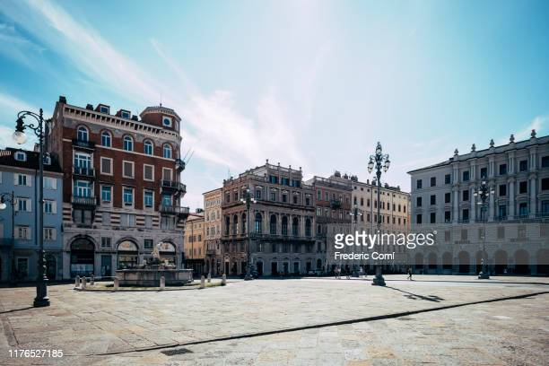 trieste square - courtyard stock pictures, royalty-free photos & images