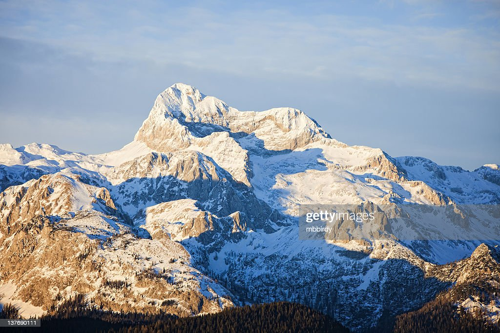 Triglav - the highest Slovenian mountain 2864 m : Stock Photo
