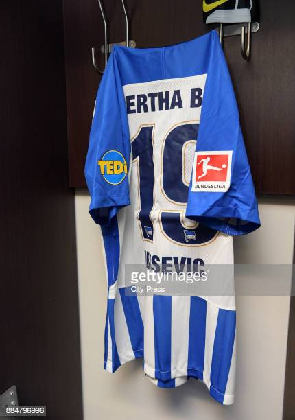 Trikot of Vedad Ibisevic of Hertha BSC before the game between Hertha BSC and the Eintracht Frankfurt on december 3 2017 in Berlin Germany