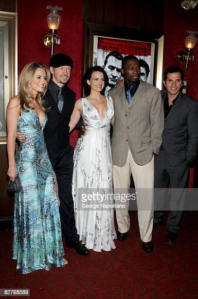 Trilby Glover Donnie Wahlberg Carla Gugino Curtis '50 Cent' Jackson and John Leguizamo attend the New York premiere of 'Righteous Kill' at the...