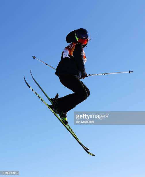 Trili Sjaastad Christiansen of Norway competes during the Freestyle Skiing on day eight of the PyeongChang 2018 Winter Olympic Games at Phoenix Snow...