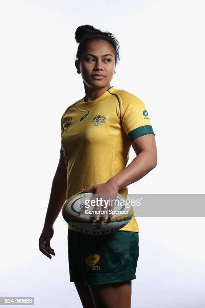 Trilleen Pomare poses during the Wallaroos World Cup Headshots Session at the Sydney Academy of Sport on July 30 2017 in Sydney Australia