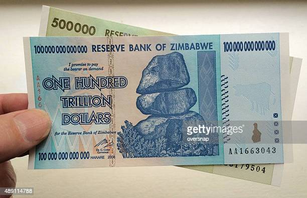 trillion dollars - zimbabwe stock pictures, royalty-free photos & images
