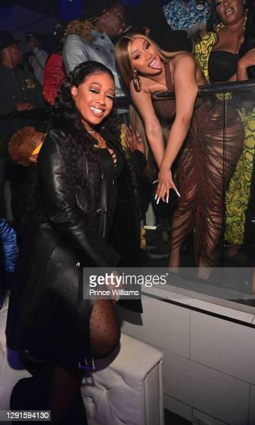 Trina and Cardi B attend Offset Birthday Celebration at Republic Lounge on December 14, 2020 in Atlanta, Georgia.