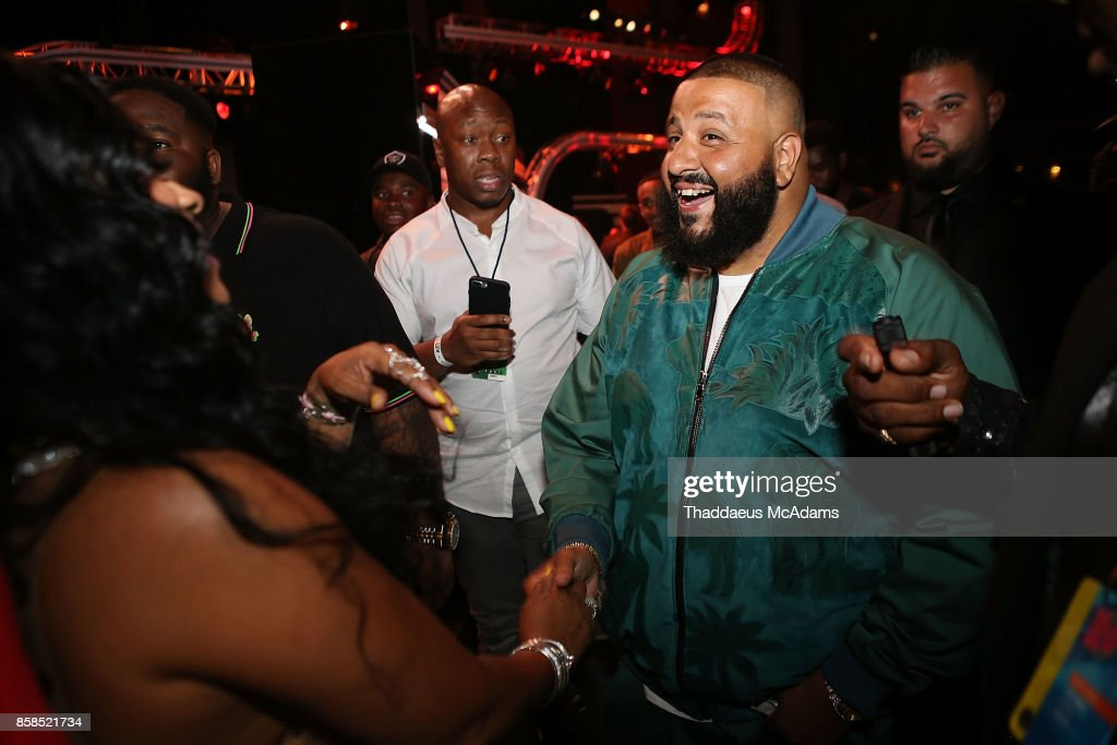 Trina and DJ Khaled attend BET Hip Hop Awards 2017 on October 6, 2017 in Miami Beach, Florida.