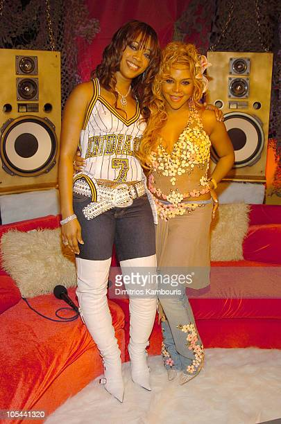 Trina and Lil Kim during Fuse and Hot 97 Present Full Frontal Hip Hop With Host Lil Kim at Webster Hall in New York City New York United States
