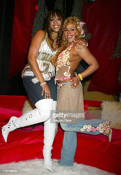 Trina and Lil' Kim during Fuse and Hot 97 Present Full Frontal Hip Hop with Host Lil' Kim at Webster Hall in New York New York United States