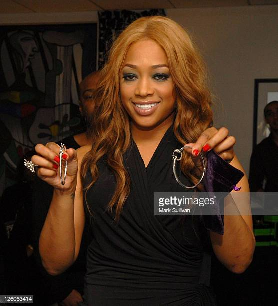 Trina attends Backstage Creations Celebrity Retreat at Shaq's AllStar Weekend Day 2 at Nokia Theatre LA Live on February 19 2011 in Los Angeles...