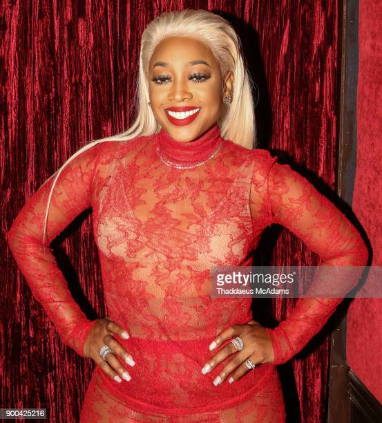 Trina attends the Love And Hip Hop Miami Screening with the cast of Love and Hip Hop at Studid 23 on January 1 2018 in Miami Florida