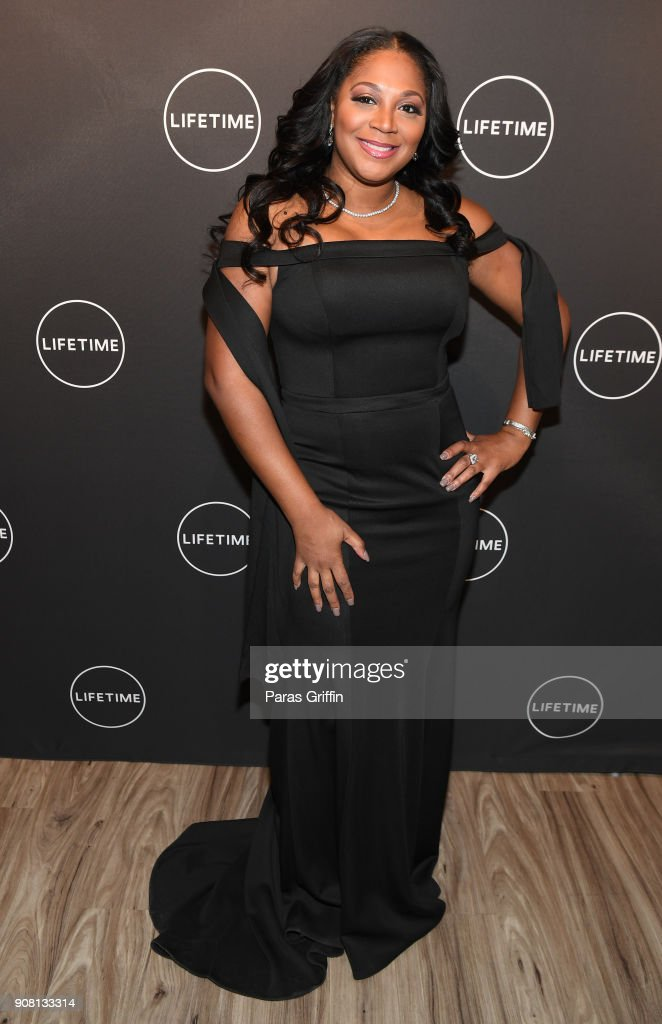 """The Cast And Producers From Lifetime's Film, """"Faith Under Fire: The Antoinette Tuff Story"""" Attend The Red Carpet Screening At The Rich Theatre, Woodruff Arts Center In Atlanta, Georgia : News Photo"""