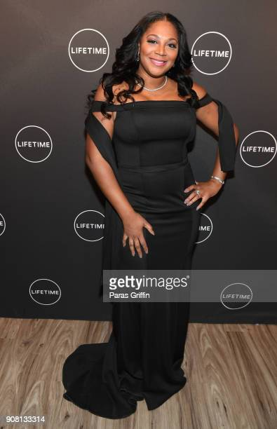 "Trina Baxton attends ""Faith Under Fire: The Antoinette Tuff Story"" red carpet screening at Woodruff Arts Center on January 20, 2018 in Atlanta,..."