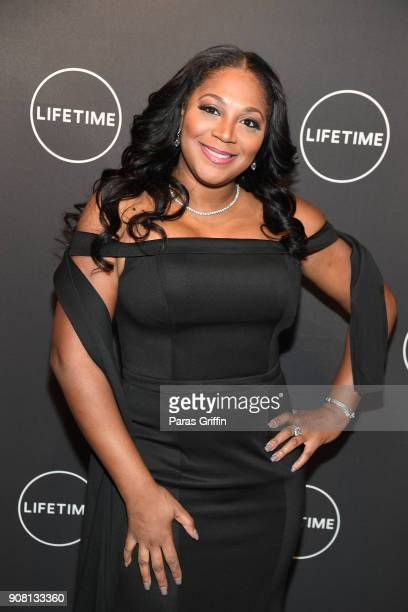Trina Baxton attends Faith Under Fire The Antoinette Tuff Story red carpet screening at Woodruff Arts Center on January 20 2018 in Atlanta Georgia