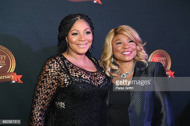 Trina Braxton and Evelyn Braxton attend 25th Annual Trumpet Awards at Cobb Energy Performing Arts Center on January 21, 2017 in Atlanta, Georgia.