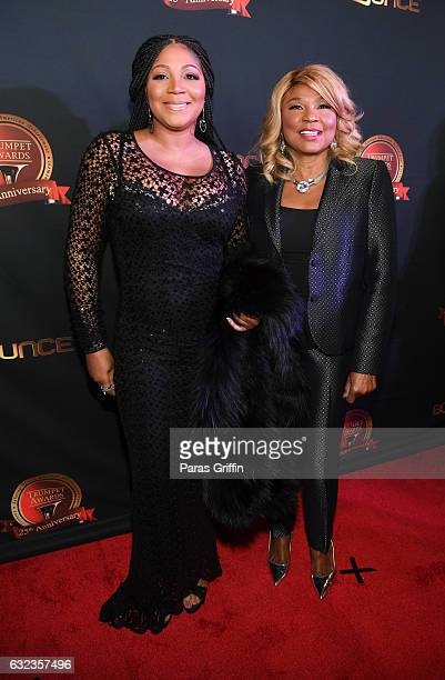 Trina Braxton and Evelyn Braxton attend 25th Annual Trumpet Awards at Cobb Energy Performing Arts Center on January 21 2017 in Atlanta Georgia